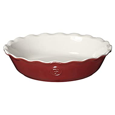 Emile Henry Made In France HR Modern Classics Pie Dish, 9 , Red