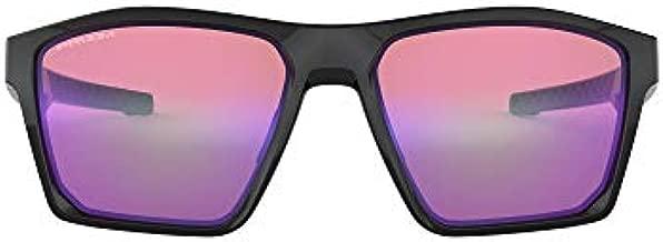 Oakley Men's OO9397 Targetline Polarized Square Sunglasses, Polished Black/Prizm Golf, 58 mm