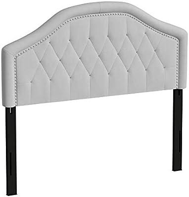 Christopher Knight Home Killian Fabric Headboard, Queen / Full, Light Grey