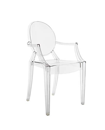 Kartell Louis Ghost Sedia, Cristallo, Set da 2
