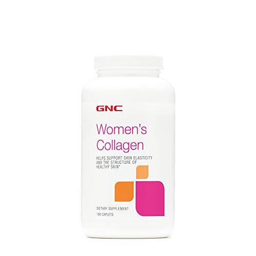 GNC Women's Collagen, 180 Caplets, Support Skin Elasticity and Healthy Skin