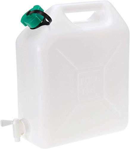 Vani 10 l Wasserkanister mit Hahn Kanister + gratis Solinger Messer Trinkwasserkanister Wassertank Camping