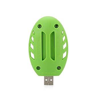 FLLOVE Tueur de Moustique électrique été Insect USB Vert + Blanc électrique de Moustique en Plastique Répulsif Pest Control Sleep Home