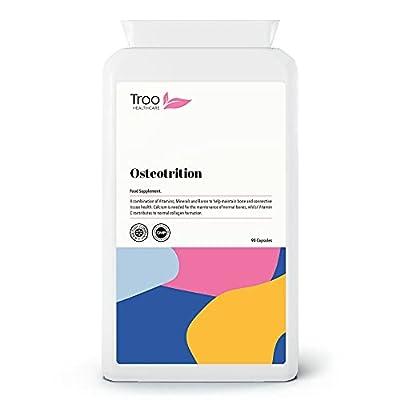 Osteotrition Bone Support Formula - 90 Capsules | Maintain Bone Density | Calcium | Magnesium | Vitamin K2 | Vitamin D3 | UK Manufactured to GMP Standards