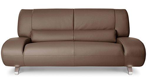 Zuri Furniture Modern Aspen Brown Microfiber Leather Loveseat