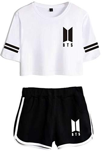 Leslady Chándales Deportiva Impresa Tear BTS Camiseta