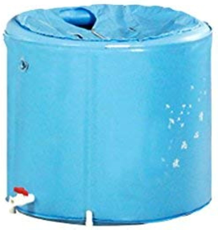 ZHAS Bathtub The hinged bath tub does not require. Plastic bath barrel. Environmental predection material (size  bluee 70  58 cm).