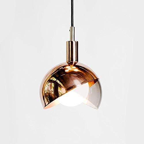Creatieve kroonluchter Nordic creatief Tea Shop rond metaal slaapkamer creatief glas rose goud kroonluchter