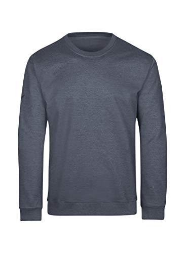 Trigema Herren 574501 Sweatshirt, Mauve-Melange, 4XL