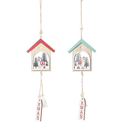 Omenluck - 4 piezas de decoración de Navidad, accesorios para fiestas, manualidades, decoración de ventanas, adornos de Navidad, regalo