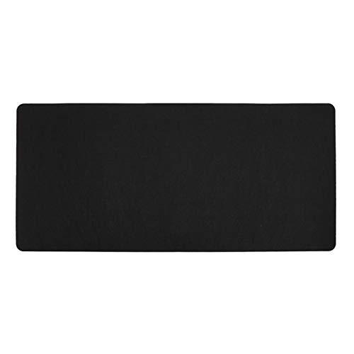 ZHEMAIE Alfombra de Escritorio Negro Gris Azul 700 * 330 * 2 mm Soft Wearable Oficina Estera de Escritorio Matura Moderna Mesa Ratón Lana Fieltro Laptop Cojín Estera Estera (Color : Black)