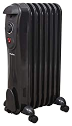 POWERFUL 1500W OIL RADIATOR – The 7 oil filled fins heat up instantly to quickly distribute warmth across the room. HOME, OFFICE & GARAGE USE – this radiator is an ideal and stylish way to heat up rooms in the home or office. The modern sleek black d...