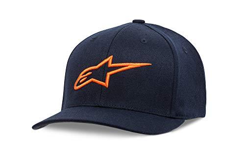 Alpinestars Ageless Curva Hat Gorra de béisbol, Marino/Naranja, L-XL para Hombre