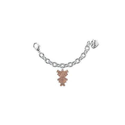 2jewels: Bracciale TOGETHER 100% MY FAMILY bambina in acciaio e pd rose gold elemento single, crea il tuo gioiello unendo 2 elementi, 131049