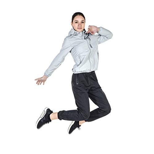 Sweat pak Up versie zilver grijs zwart groot formaat explosie pond gewichtsverlies kleding vrouwen twee sets running sport fitness wicking vet reductie