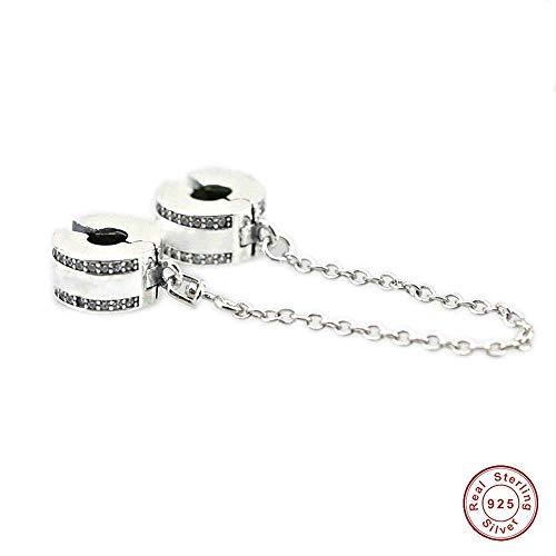 CHICBUY 2017 Spring Collection Cadena de seguridad con logotipo de plata 925 para pulseras Pandora originales