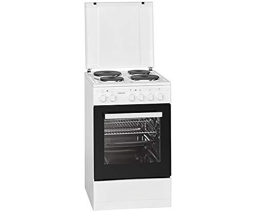 Bomann Stand-Elektroherd EH 561/4 Kochstellen /50 cm/weiß