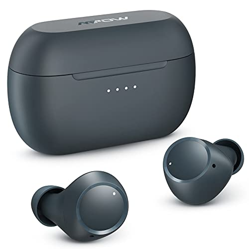 Wireless Earbuds, Mpow M13 Bluetooth Headphones in Ear, Wireless Charging&USB-C Charging Bluetooth Earphones, w/Punchy Bass/ IPX8 Waterproof/28 Hrs/Twin&Mono Mode/Touch Control/Mics (Blue)
