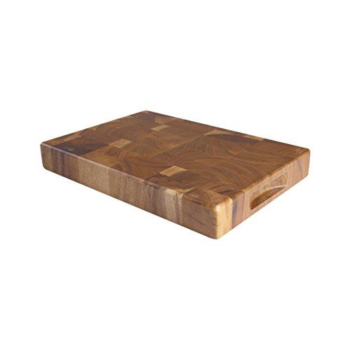 T&G - Tagliere rettangolare medio Tuscany con fessure laterali, in legno di acacia