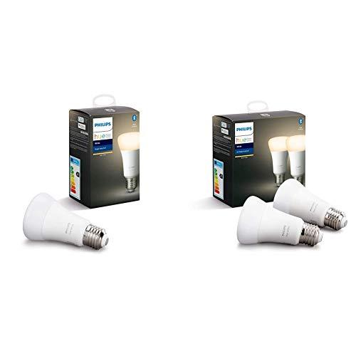 Philips Hue White Pack de 5 bombillas LED inteligentes E27, luz blanca cálida, compatible...