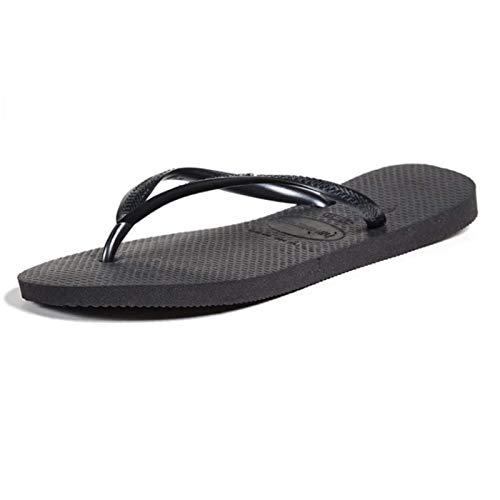 Havaianas Women#039s Slim Flip Flop Sandal Black 5/6 M US