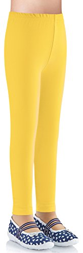 Ladeheid Mädchen Leggings aus Baumwolle LAMA03 (Gelb7, 152-158)