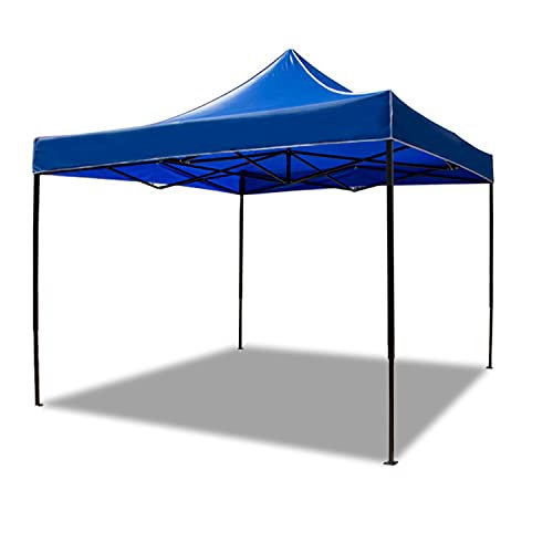 HT&PJ Pavillon 3x3 Wasserdicht Robustes Metall Luxus Gartenpavillon Zelt 1200d Wasserdichtes Oxford Tuch Uv-Schutz 50+ Geeignet Für Partys Strände Flohmärkte Camping (Blau)