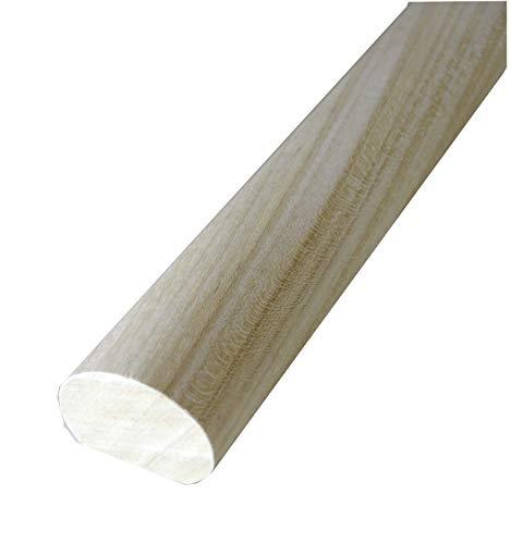 Corrimano in legno di Ayous massiccio non trattato mm. 55x40x1500 (prezzo per ml. 1,50)