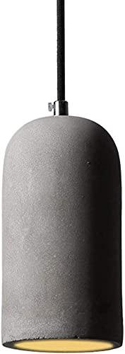 Con cable textil Luz de techo de cilindros grises, luz colgante moderno Concrete E27 Lámpara de colgante industrial, lámpara de hormigón Sala de estar Lámpara de mesa Luz Máx.60 W 95-230 V