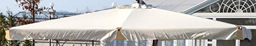 GIARDINI DEL RE Indo Telo di Ricambio per Ombrellone Decentrato, Ecru, 290x390x2 cm