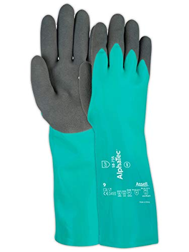 Ansell Gloves AlphaTec 58-735 Gloves with INTERCEPT Liner and Ansell Grip Technology Palm - Cut Level 3