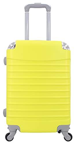 Maleta de Cabina 20x35x55cm con Esquinas Plateadas  Amarillo