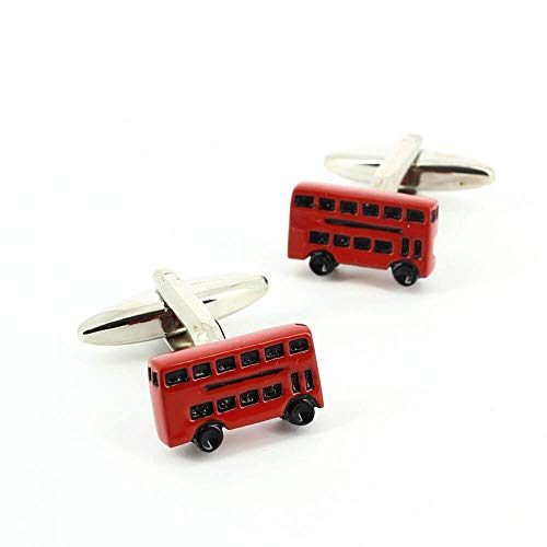 Cravate Avenue Signature - Boutons De Manchette, London Bus, Rouge