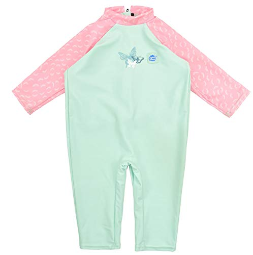 Splash About Mädchen Einteiliger UV Schutzanzug, grün (Libelle), 6-12 Monate, UVADF6