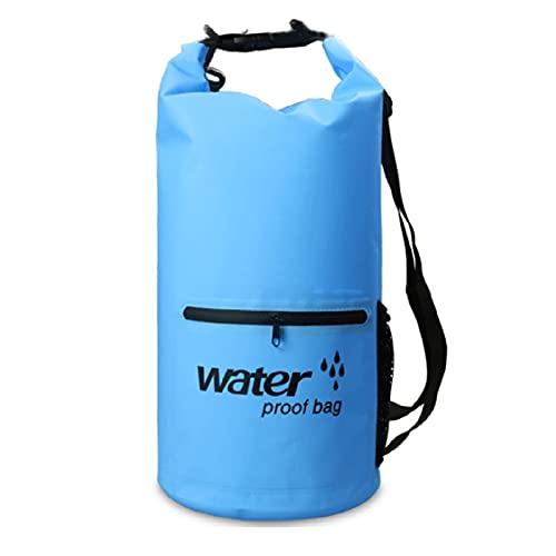 YCYUYK Bolsa seca impermeable 20l Roll Top Mochila para viajes Natación Canotaje Kayak Camping Playa Pesca Rafting (Azul)