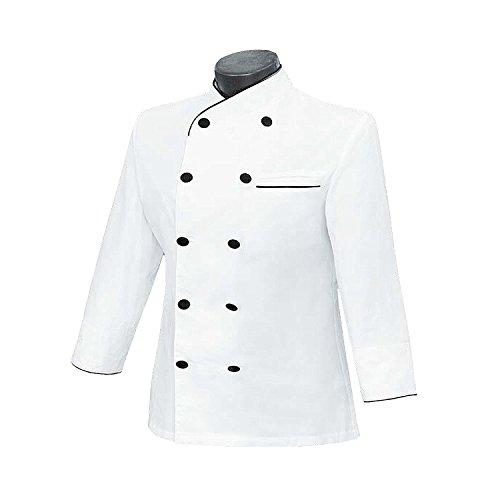 MISEMIYA - Chaquetas Chef COCINERA Mangas LARGAS - Ref.844 - X-Large, Blanco