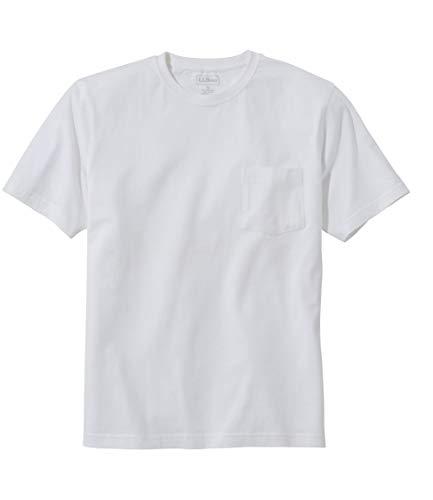 L.L.Bean(エルエルビーン) メンズ ケアフリー・アンシュリンカブル・ティ 半袖 ポケット付き ジャパン・フィット Lサイズ White White 0UPW480006