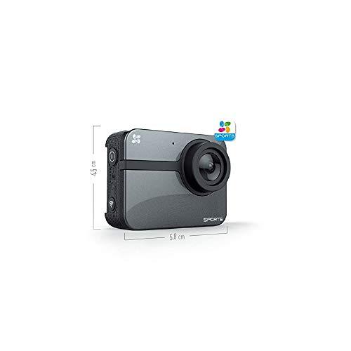 Cámara deportiva EZVIZ S1C, resolución de vídeo Full HD 1080P, fotos de hasta 8mp, negro
