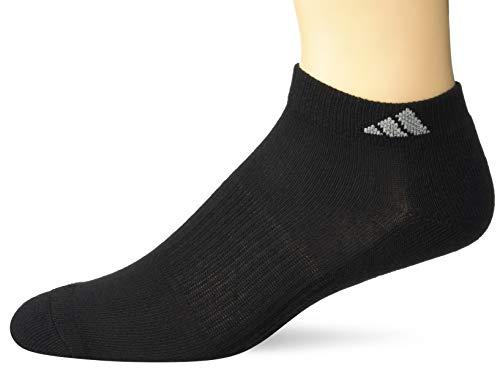 adidas Calcetines de corte bajo para mujer, talla de zapato 5-10 (paquete de 6) - 102548, Athletic - Calcetines de corte bajo (6 pares), M, Negro/Aluminio 2