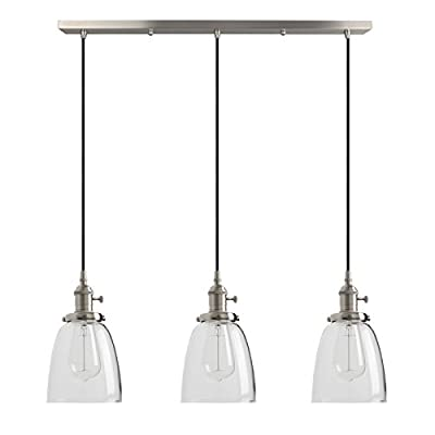 Dazhuan Contemporary Alabaster Frosted Glass Pendant Light Kitchen Island Chandelier Hanging Ceiling Lighting Fixture, Brushed Nickel, 4 Shade
