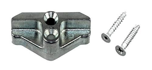 SI Siegenia Aubi Rastteil, Schließblech, Schliessplatte 1940 oder A1940TS (714256) incl. SN-TEC Montagematerial