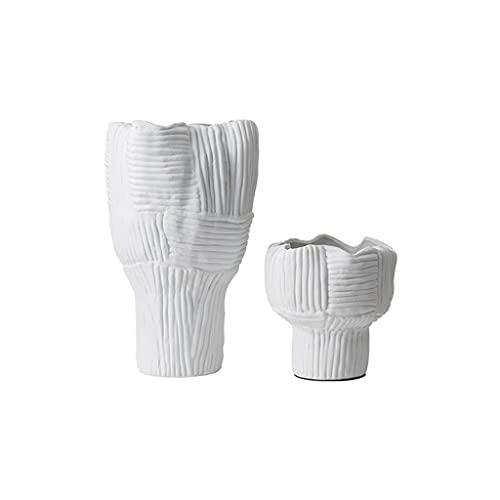 SPNEC LQGSYT Vaso Moderno in Ceramica Bianca con Disposizione dei Fiori Decorazione del Soggiorno per la casa Decorazione dell'hotel Fiore