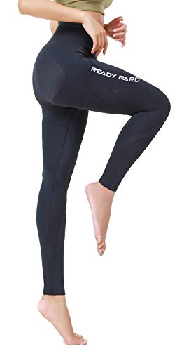 Readypard Women's Compression Joint Support 3/4 Capri Running Tight, Protection Stabilizes The Knee Joint Like Human Bones, Recover Strength Pants Black