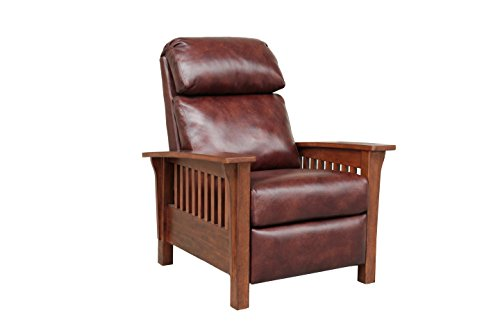 BarcaLounger Mission 7-3323 (Craftsman) All Leather Push Back Manual Recliner Chair - 5702-87...