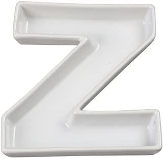 Ivy Lane Design Ceramic Love Letter Dish, Letter Z, White