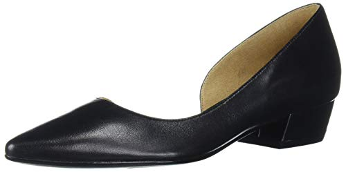 Naturalizer womens Belina Ballet Flat, Black Leather, 9 Narrow US