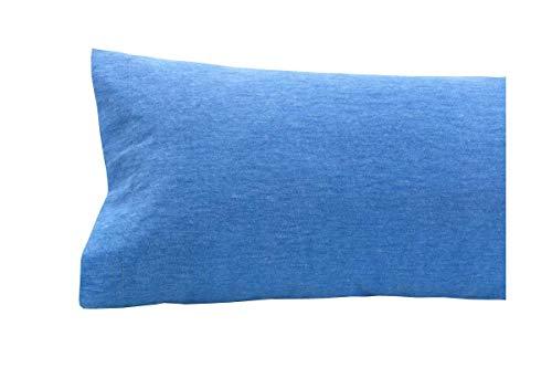 SABANALIA - Funda de Almohada de Franela, 75-95 x 45, Azul