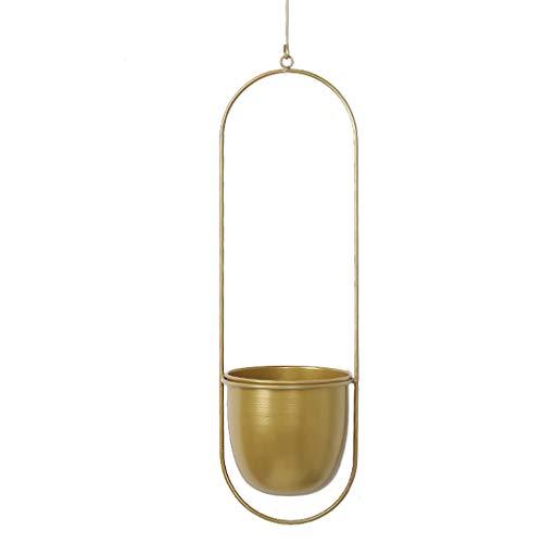 Yushu Metal Hanging Flower Pot Plant Hanger Chain Planter Basket Holder Ornament Decor Candle Lanterns Iron Home Candlestick Decor