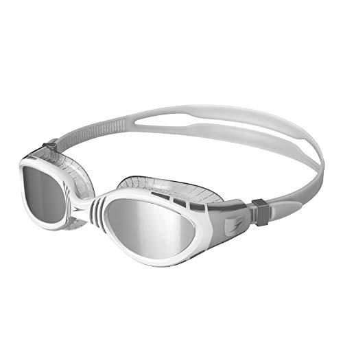 Speedo Unisex-Erwachsene Futura Biofuse Flexiseal Mirror Schwimmbrille, Grau/Silber, Einheitsgröße