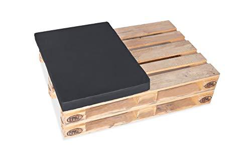 TexDeko BEZUG (Replacement ohne Füllung/Schaumstoffe etc.) für Palettenpolster 60x80cm = ½ Europalette In & Outdoor (60x80x10cm, Anthrazit)